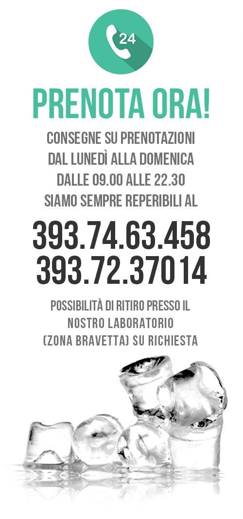 Comprare Ghiaccio a Roma - Prenotazione Telefonica